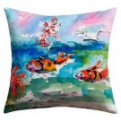 DENY Designs Ginette Fine Art Clownfish Outdoor Throw Pillow 26 by 26-Inch new