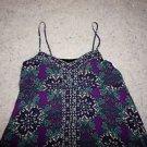 Nicole by Nicole Miller for JCP sz 14 sundress purple print handkerchief hem EUC