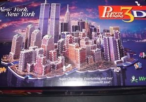 New York, New York Puzz 3D by Wrebbit 3141 pieces brand new with damaged box
