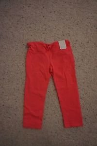Womens GapFit gfast fitted capri workout tights sz L bright coral color NWT
