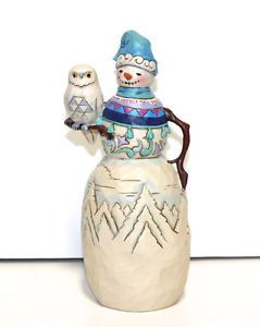 Jim Shore Have a Hoot this Winter snowman with owl figurine 4034372 NIB