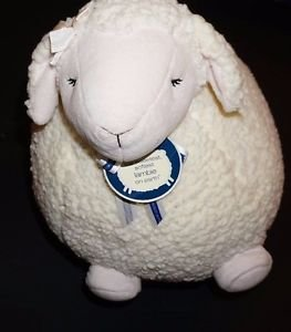 "Bath & Body Works Lambie cream plush stuffed animal fluffy lamb large 18"" NWT"