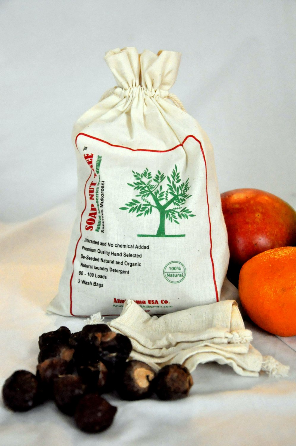 Soap Nut Organic Natural laundry detergent .55lb chemical free good for babies clothes and diapers