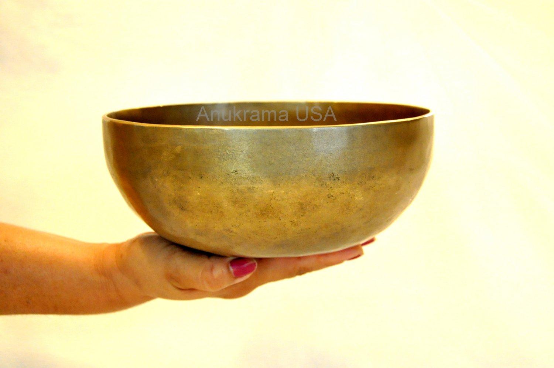 "Tibetan Singing Bowl ~ 6"" Hand hammered Chakra Buddhist Meditation free mallet"