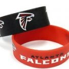 Atlanta Falcons Rubber Bracelets 2 Pack Silicone Wristbands OSFM Licensed New