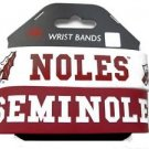 Florida State Seminoles Rubber Bracelets 2 Pack Silicone Wristbands OSFM New