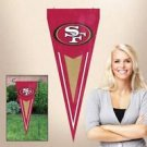 NFL San Francisco 49ers Yard Wall Pennant Applique Embroidered Indoor Outdoor