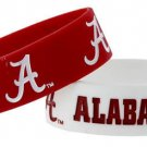 Alabama Crimson Tide Rubber Bracelets 2 Pack Silicone Wristbands Licensed New