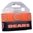 Chicago Bears Rubber Bracelets 2 Pack Silicone Wristbands OSFM Licensed New