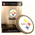 Pittsburgh Steelers 16-Ounce Pint Glass & 4 Coasters Gift Set Dishwasher Safe