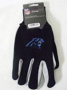 Carolina Panthers Sport Garden Utility Grip Gloves Work Winter 2 Tone Licensed