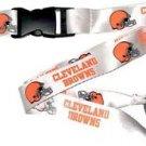 NFL Cleveland Browns Lanyard Keychain Keyring Badge Holder Licensed Breakaway