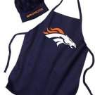 NFL Denver Broncos Apron and Chef Sets for BBQ Tailgating Party Kitchen New