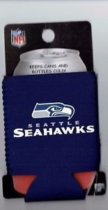 Seattle Seahawks Football Can Bottle Koozie Coozie Drink Holder Authentic New
