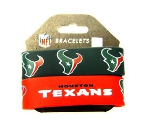 Houston Texans Rubber Bracelets 2 Pack Silicone Wristbands OSFM Licensed New