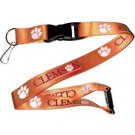 Clemson Tigers Lanyard Keychain Keyring Badge Holder Licensed Breakaway New