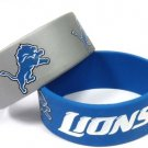 Detroit Lions Rubber Bracelets 2 Pack Silicone Wristbands OSFM Licensed New