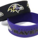 Baltimore Ravens Rubber Bracelets 2 Pack Silicone Wristbands OSFM Licensed New