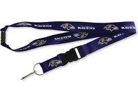 NFL Baltimore Ravens Lanyard Keychain Keyring Badge Holder Licensed Breakaway