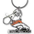 NFL Denver Broncos Metal Heavyweight Keychain Keyring Lobster Claw Authentic