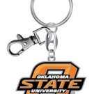 Oklahoma State Cowboys Metal Heavyweight Keychain Keyring Lobster Claw Authentic