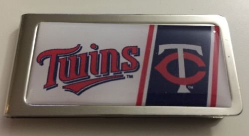 MLB Minnesota Twins Stainless Steel Money Cash Clip Holder Authentic New