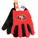 San Francisco 49ers Sport Garden Utility Grip Gloves Work Winter 2 Tone Licensed