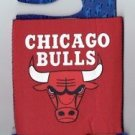 NBA Chicago Bulls Football Can Koozie Coozie Drink Holder New Red