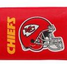 NFL Kansas City Chiefs Nylon Trifold Kids Wallet Velcro Great Gift Licensed New