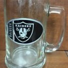 NFL Oakland Raiders 15OZ Glass Tankard Beer Mug Hand Crafted Metal Team Logo