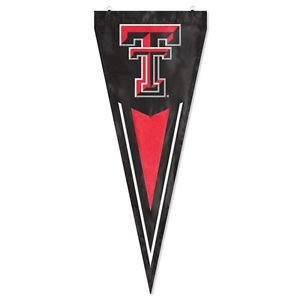 Texas Tech Red Raiders Yard Pennant Flag Banner Applique Embroidered Outdoor
