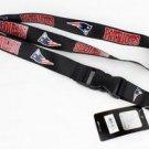 New England Patriots Lanyard Keychain Keyring Badge Holder Breakaway Licensed