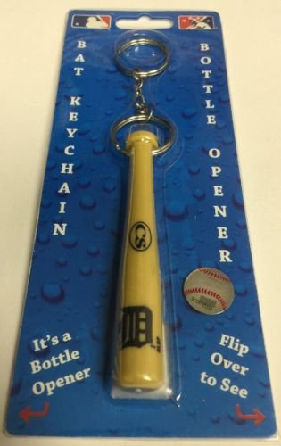 MLB Detroit Tigers Bat Keychain Keyring With Bottle Opener Authentic New