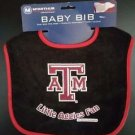 NCAA Texas A&M Aggies Baby Bib Shower Gift Black Infant Toddler Licensed New