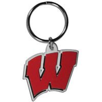 NCAA Wisconsin Badgers Flex Keychain Keyring Team Color PVC Authentic New