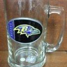NFL Baltimore Ravens 15OZ Glass Tankard Beer Mug Hand Crafted Metal Team Logo