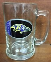 NFL Baltimore Ravens 15OZ Glass Tankard Beer Mug Hand Crafted Metal Team Logo