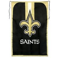 """NFL New Orleans Saints Flag Banner Cape 47""""X32"""" Polyester Wave It or Wear It New"""