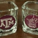 NCAA Texas Longhorns Shot Glasses Set Retro and New Logo 2pc Licensed New
