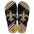 New Orleans Saints NFL Unisex Big Logo Flip Flops Size Large High Quality