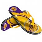Los Angeles Lakers Unisex Big Logo Flip Flops Size Medium High Quality