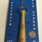 MLB Cleveland Indians Bat Keychain Keyring With Bottle Opener Authentic New