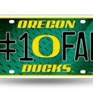 NCAA Oregon Ducks Metal #1 Fan Sign License Plate Auto Car Truck New
