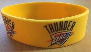 NBA Oklahoma City Thunders Rubber Silicone Bracelet Licensed New OSFM Yellow