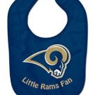 NFL St. Louis Rams Baby Bib Shower Gift Navy Infant Toddler Licensed New