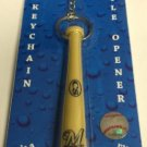 MLB Milwaukee Brewers Bat Keychain Keyring With Bottle Opener Authentic New
