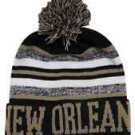 New Orleans City Beanie Color PomPom Hat Winter Knit w POM Ribbed Cuff