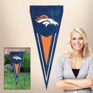 Denver Broncos Yard Pennant Flag Banner Applique Embroidered Outdoor New License