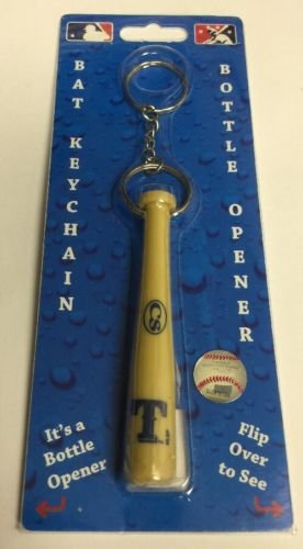 MLB Texas Rangers Bat Keychain Keyring With Bottle Opener Authentic New