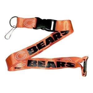 Chicago Bears Lanyard Keychain Keyring Badge Holder Breakaway Licensed Orange